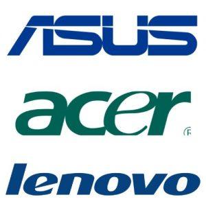 Logo Asus Acer Lenovo