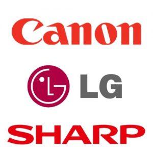 Logo Canon LG Sharp