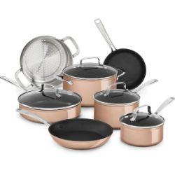 Set casseroles 11 pièces Kitchen Aid 259€