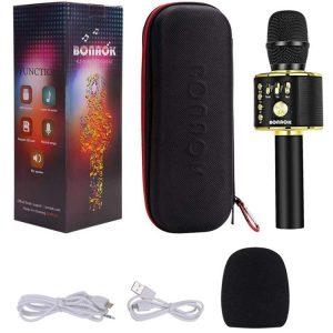 Bonaok Karaoke Bluetooth wireless Microphone for PC or Smartphone